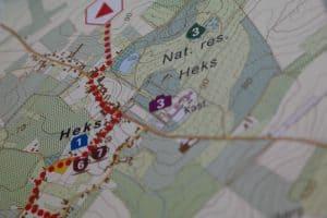 Hex15 post wandelroute kaart