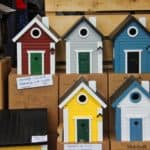 Bird nest boxes for sale at Tuinfestival Hex June 2019
